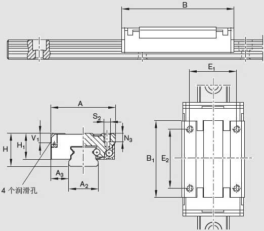 R0444微型导轨图纸