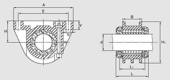 力士乐轴承导套R1060图纸